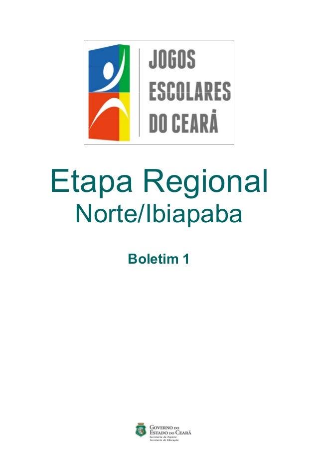 Etapa Regional Norte/Ibiapaba Boletim 1