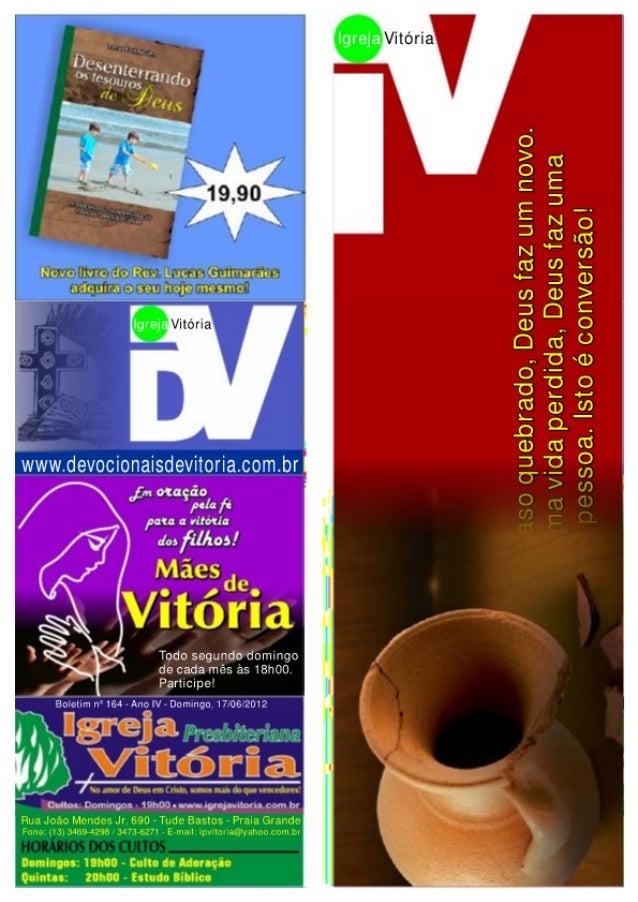 Boletim 164 (17 06-2012) - igreja vitória