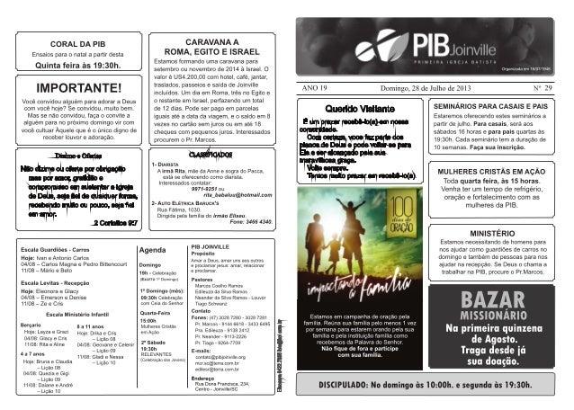 Boletim PIB Joinville 28/07/2013