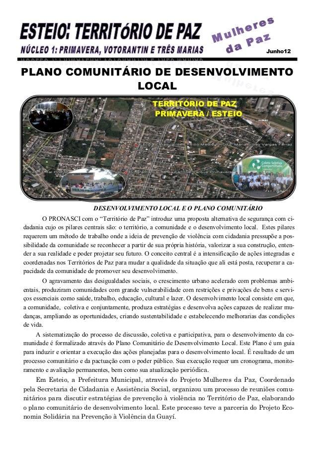 Junho12PLANO COMUNITÁRIO DE DESENVOLVIMENTO               LOCAL                                                   TERRITÓR...