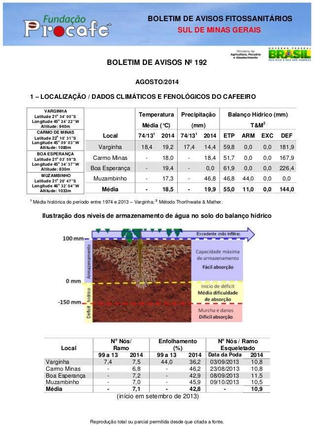 Reprodução total ou parcial permitida desde que citada a fonte.  BOLETIM DE AVISOS Nº 192  AGOSTO/2014  1 – LOCALIZAÇÃO / ...