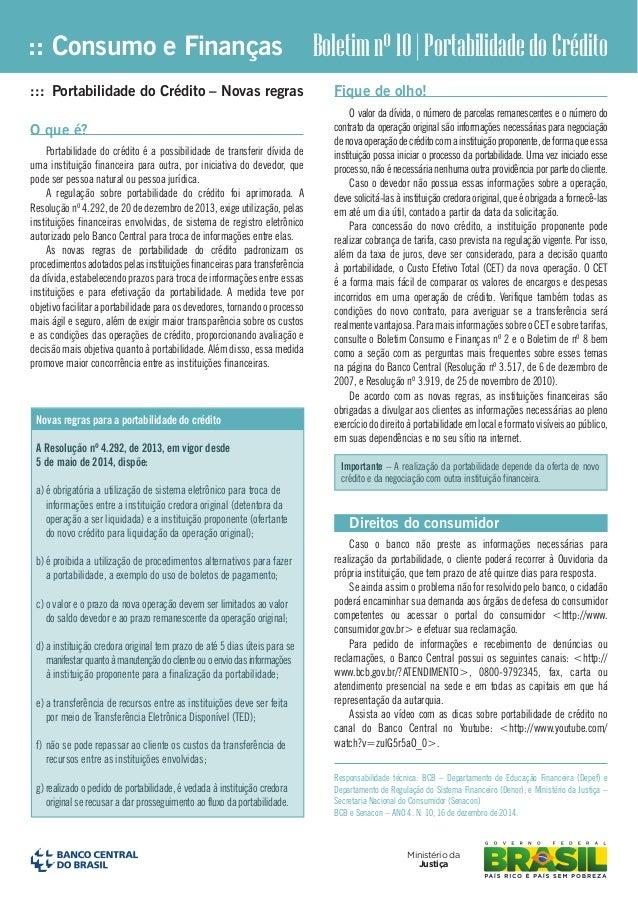 :: Consumo e Finanças Ministério da Justiça ::: Portabilidade do Crédito – Novas regras O que é? Portabilidade do crédito ...