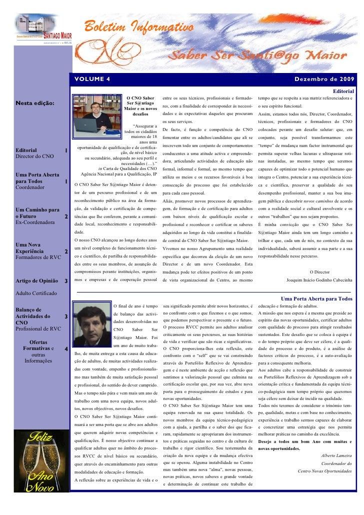 Boletim Informativo                           VOLUME 4                                                                    ...