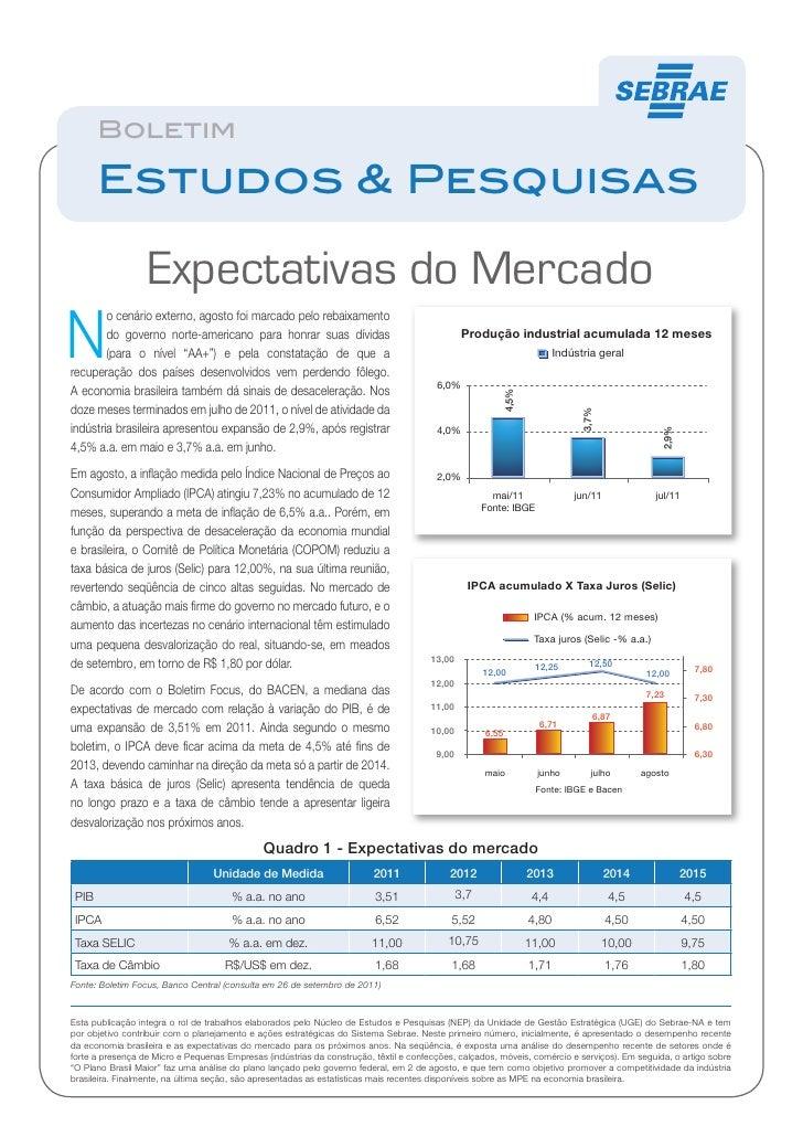 BoletimW       Estudos & Pesquisas                  Expectativas do MercadoN        o cenário externo, agosto foi marcado ...