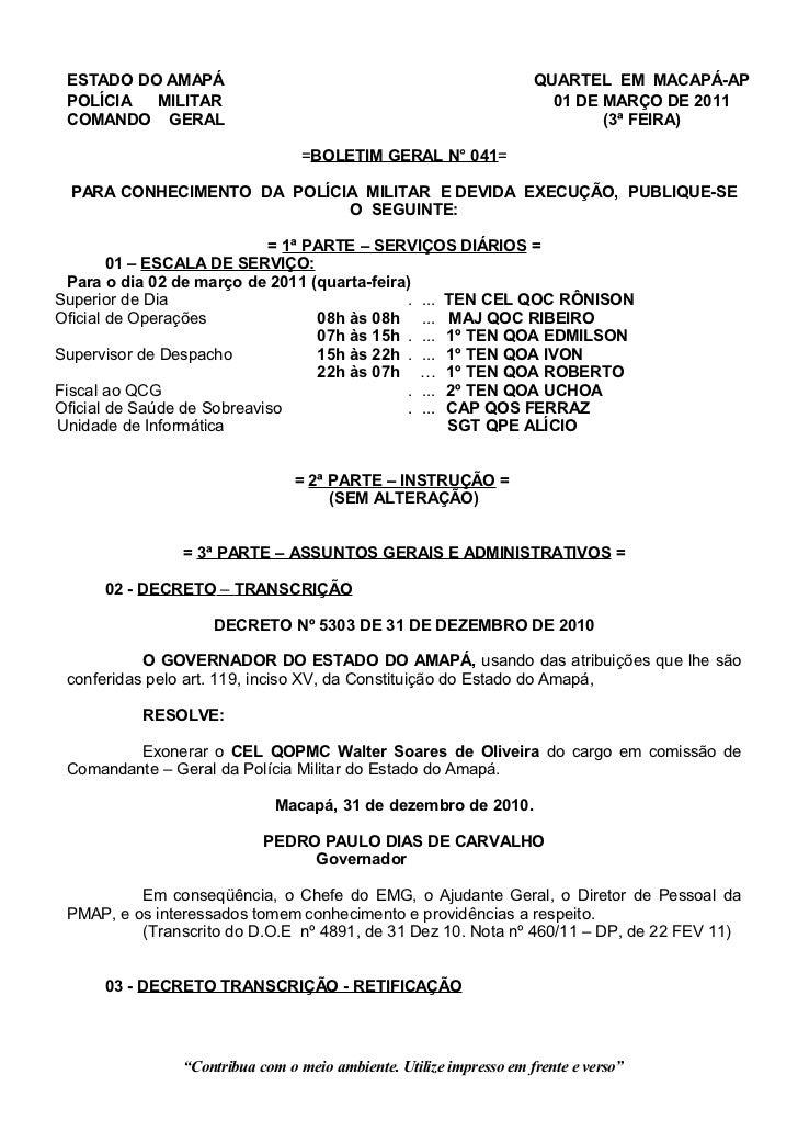 ESTADO DO AMAPÁ                                                     QUARTEL EM MACAPÁ-AP POLÍCIA  MILITAR                 ...