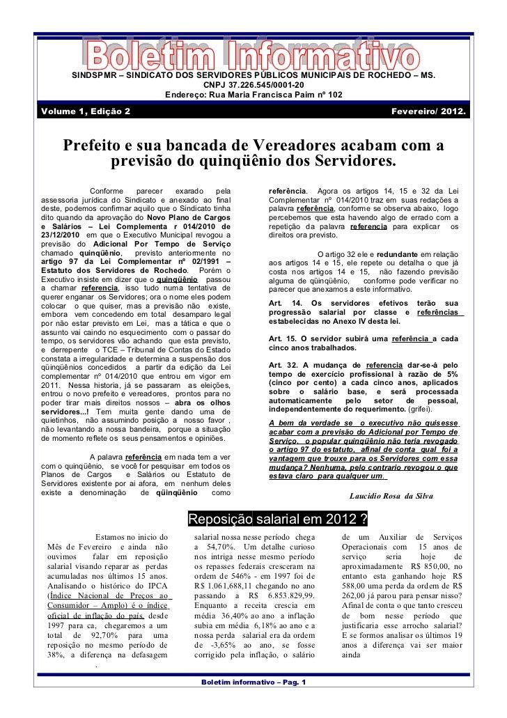 Boletim informativo -- outubro-2011