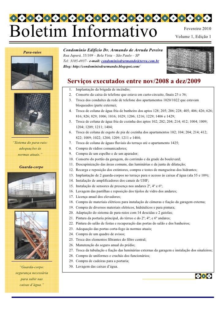 Boletim Informativo                                                                                      Fevereiro 2010   ...