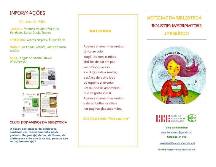 INFORMAÇÕES                                                                                   NOTÍCIAS DA BIBLIOTECA      ...