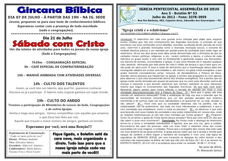 IGREJA PENTECOSTAL ASSEMBLÉIA DE DEUS                                                                                     ...