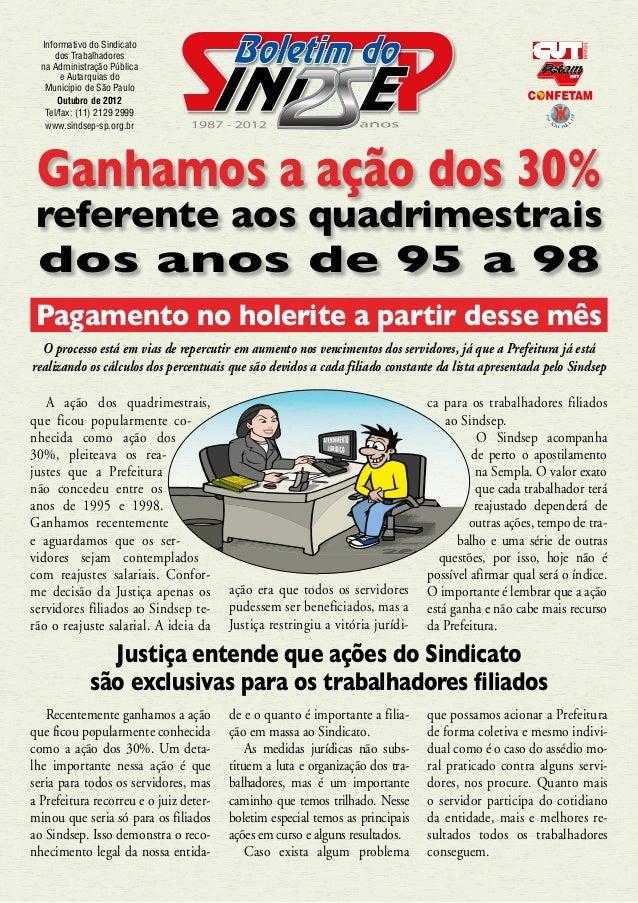 Informativo do Sindicato      dos Trabalhadores  na Administração Pública        e Autarquias do   Município de São Paulo ...
