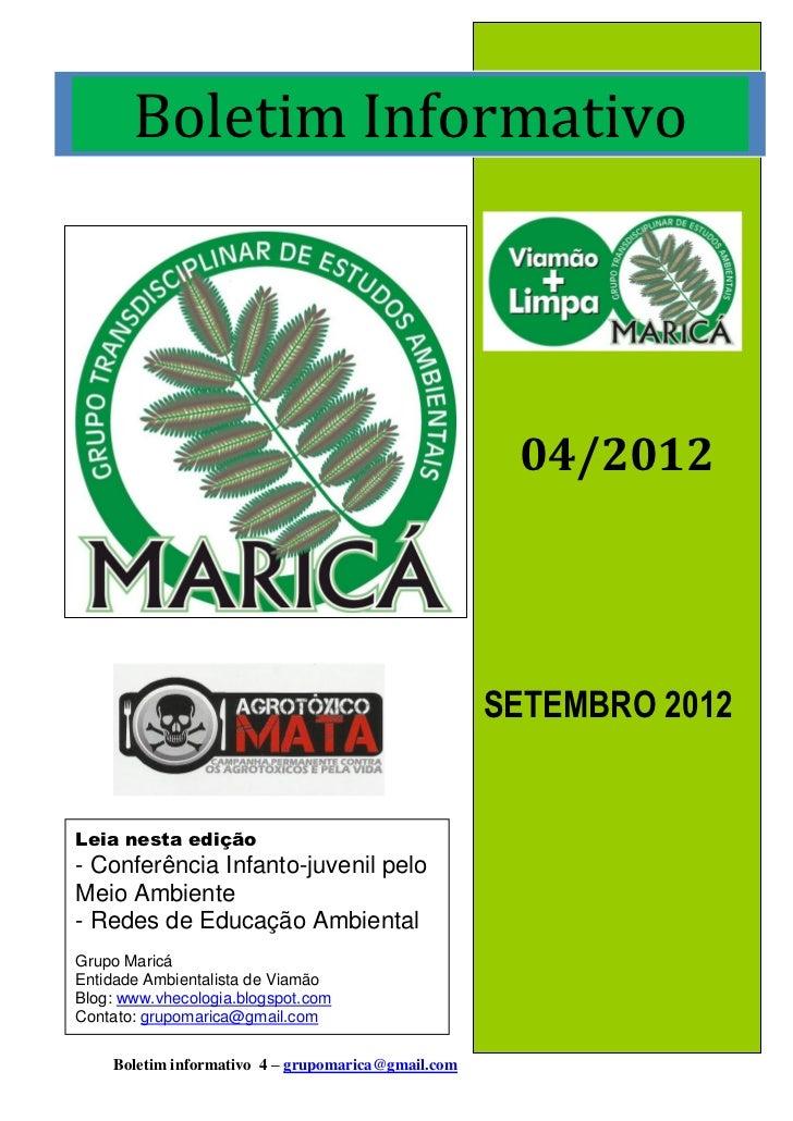 Boletim Informativo                                                     04/2012                                           ...