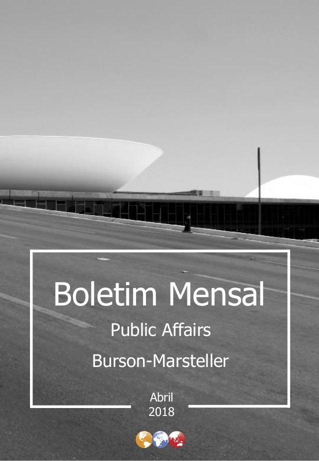 Boletim Mensal Burson-Marsteller Abril Public Affairs 2018