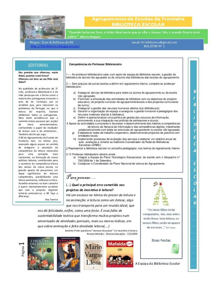 Blogue : Ecos & Reflexos da BE                                                            email: ftr.biblioteca@gmail.com ...