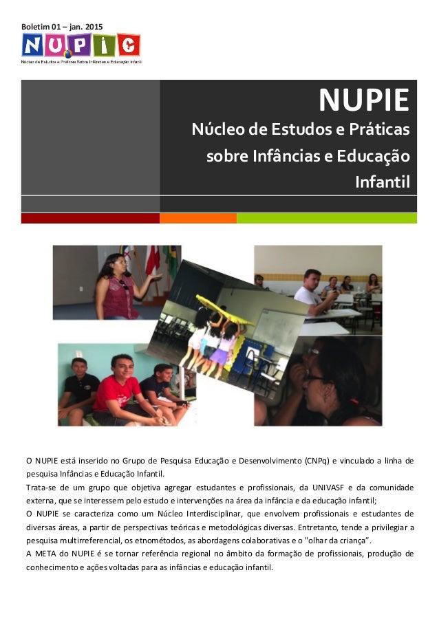 Boletim  01  –  jan.  2015                                 NUPIE      Núcleo  de  E...