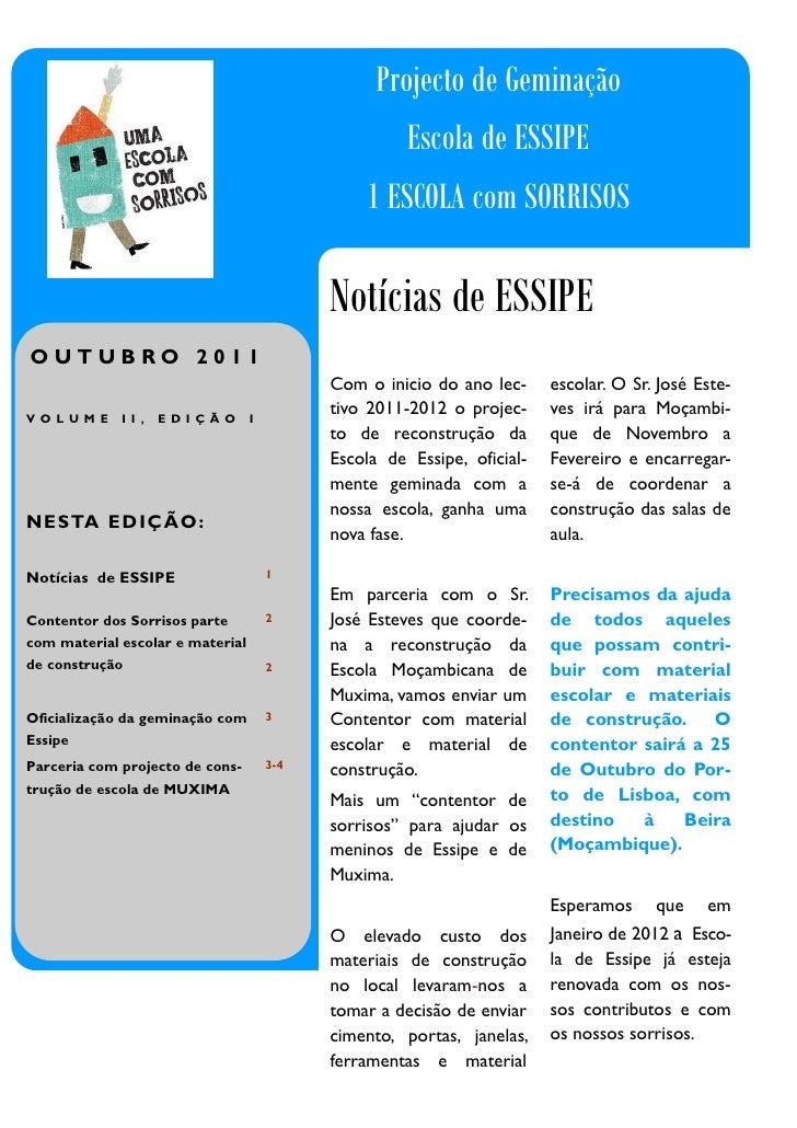Projecto de Geminação                                                        Escola de ESSIPE                             ...