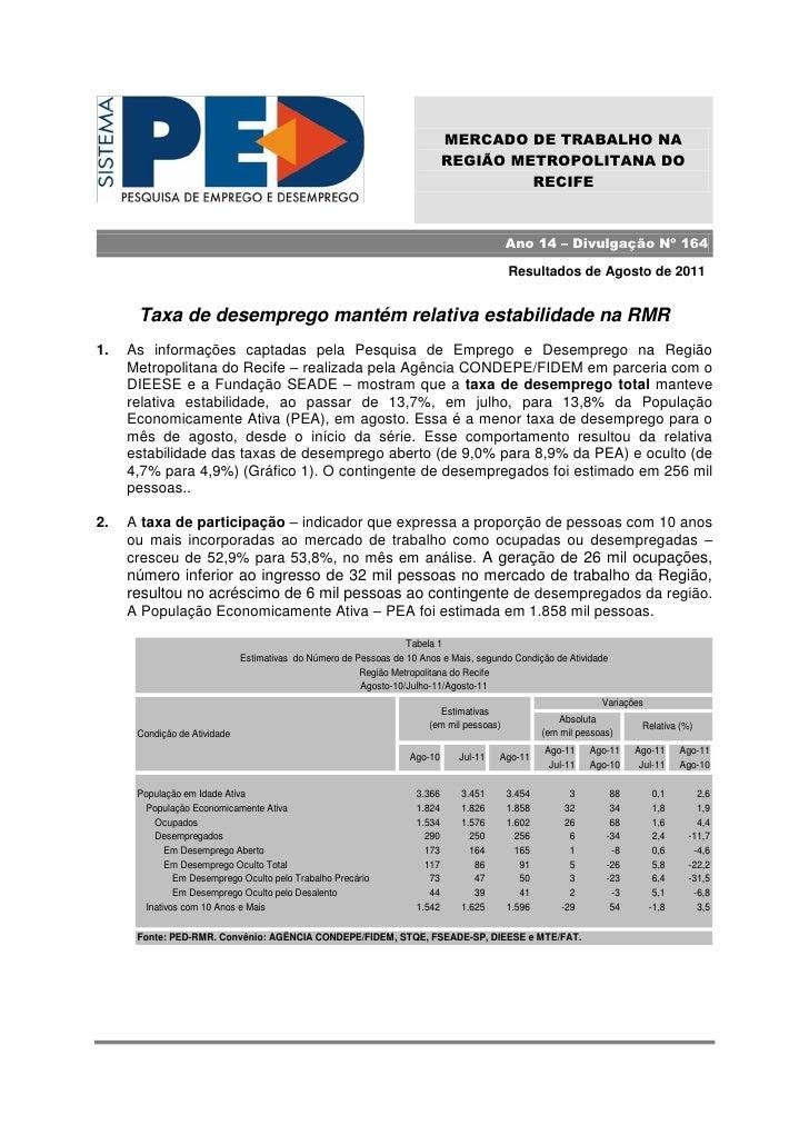 MERCADO DE TRABALHO NA                                                                            REGIÃO METROPOLITANA DO ...