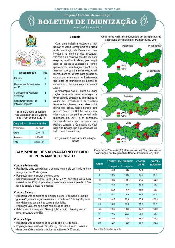 Secretaria de Saúde do Estado de Pernambuco                                             Programa Estadual de Imunização   ...
