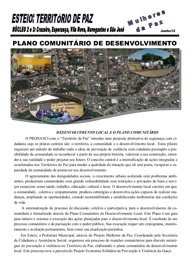 Junho12PLANO COMUNITÁRIO DE DESENVOLVIMENTO                            DESENVOLVIMENTO LOCAL E O PLANO COMUNITÁRIO        ...