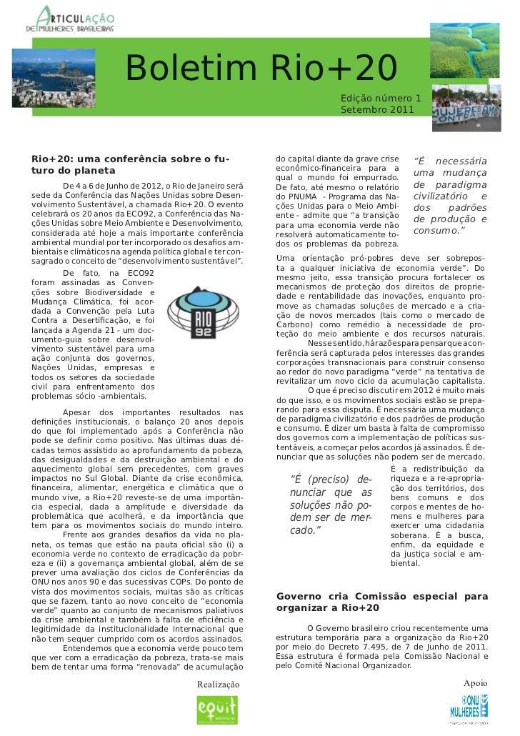 Boletim Rio+20                                                                                   Ediçãonúmero1          ...