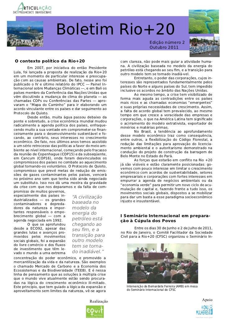 Boletim Rio+20                                                                            Edição número 2                 ...