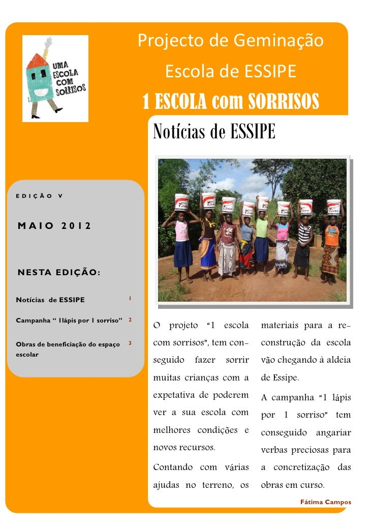 Projecto de Geminação                                         Escola de ESSIPE                                      1 ESCO...