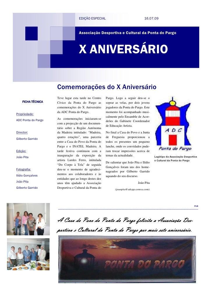 EDIÇÃO ESPECIAL                                              16.07.09                                            Associaçã...