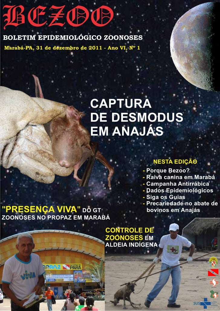 BEZOOBOLETIM EPIDEMIOLÓGICO ZOONOSESMarabá-PA, 31 de dezembro de 2011 - Ano VI, Nº 1                              CAPTURA ...