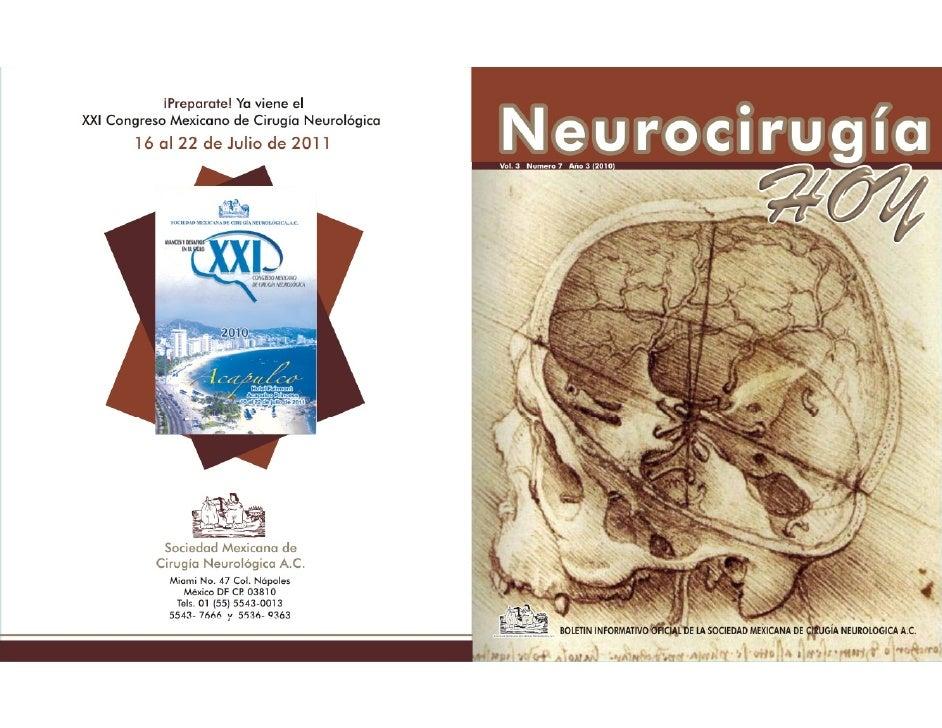 Neurocirugía Hoy, Vol. 3, Numero 7