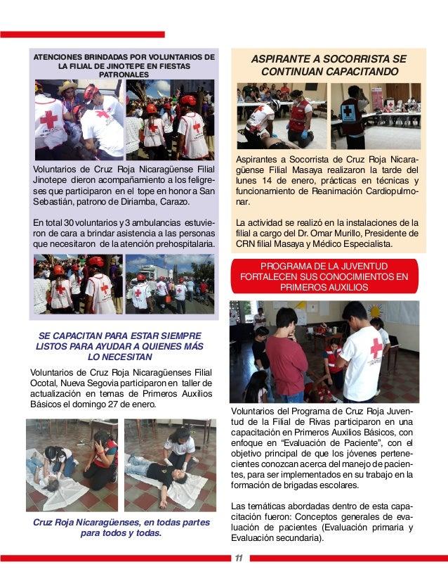 PROGRAMA DE LA JUVENTUD FORTALECEN SUS CONOCIMIENTOS EN PRIMEROS AUXILIOS 11 Aspirantes a Socorrista de Cruz Roja Nicara- ...