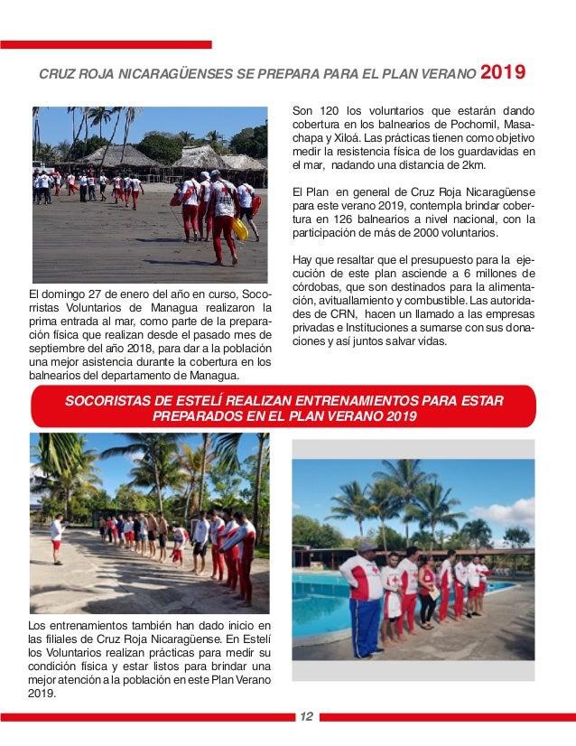 12 El domingo 27 de enero del año en curso, Soco- rristas Voluntarios de Managua realizaron la prima entrada al mar, como ...