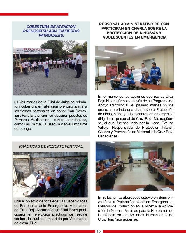 31 Voluntarios de la Filial de Juigalpa brinda- ron cobertura en atención prehospitalaria a las fiestas patronales en hono...