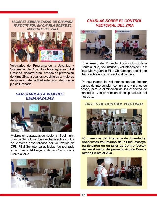 En el marco del Proyecto Acción Comunitaria Frente al Zika, voluntarios y voluntarias de Cruz Roja Nicaragüense Filial Chi...