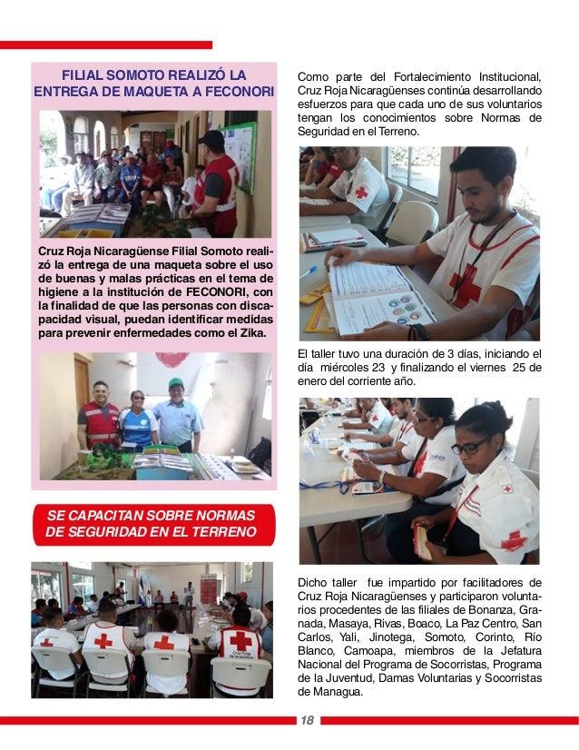 Como parte del Fortalecimiento Institucional, Cruz Roja Nicaragüenses continúa desarrollando esfuerzos para que cada uno d...