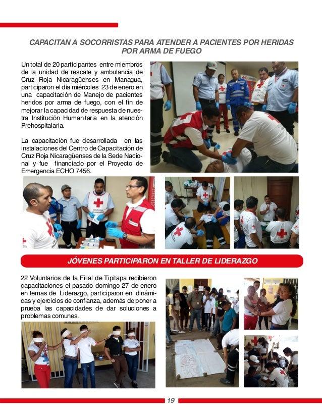 Un total de 20 participantes entre miembros de la unidad de rescate y ambulancia de Cruz Roja Nicaragüenses en Managua, pa...