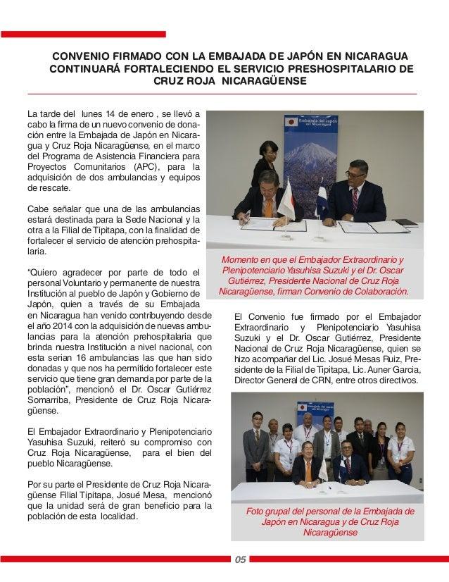 La tarde del lunes 14 de enero , se llevó a cabo la firma de un nuevo convenio de dona- ción entre la Embajada de Japón en...