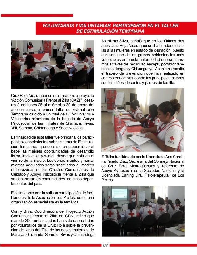 """Cruz Roja Nicaragüense en el marco del proyecto """"Acción Comunitaria Frente al Zika (CAZ)"""", desa- rrolló del lunes 28 al mi..."""