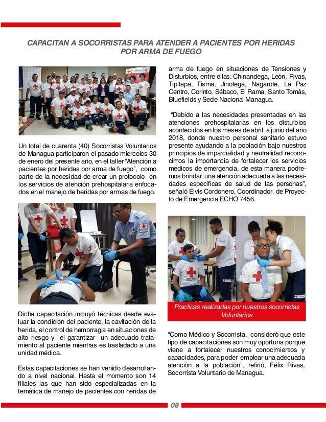 Un total de cuarenta (40) Socorristas Voluntarios de Managua participaron el pasado miércoles 30 de enero del presente año...