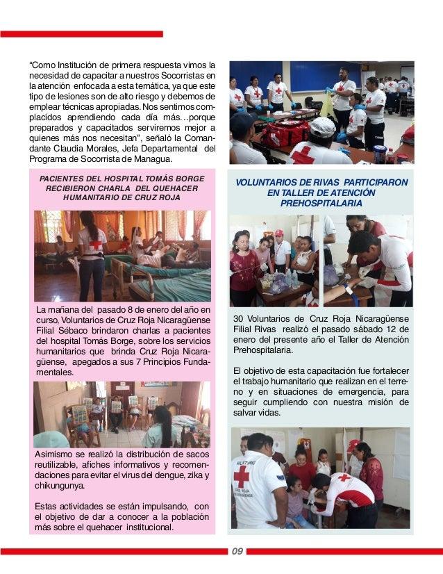 La mañana del pasado 8 de enero del año en curso, Voluntarios de Cruz Roja Nicaragüense Filial Sébaco brindaron charlas a ...
