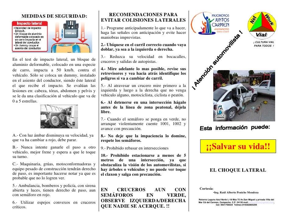 MEDIDAS DE SEGURIDAD:                           RECOMENDACIONES PARA                                                   EVI...
