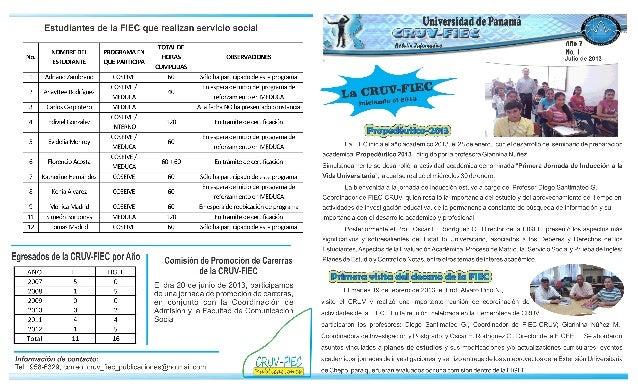 Boletin1 CRUV-FIEC 2013