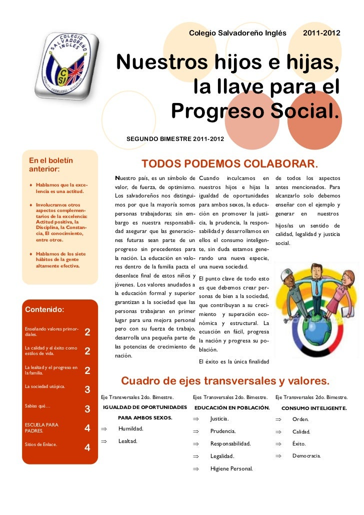 Colegio Salvadoreño Inglés                         2011-2012                                        Nuestros hijos e hijas...