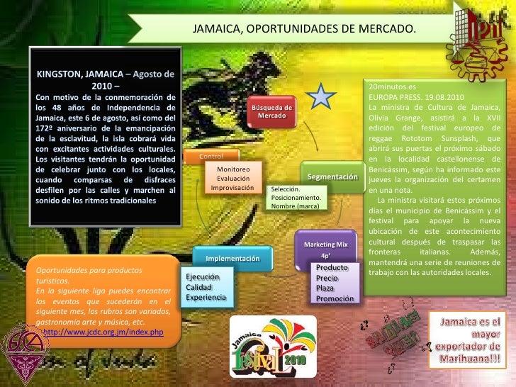JAMAICA, OPORTUNIDADES DE MERCADO. <br />KINGSTON, JAMAICA – Agosto de 2010 – <br />Con motivo de la conmemoración de los ...