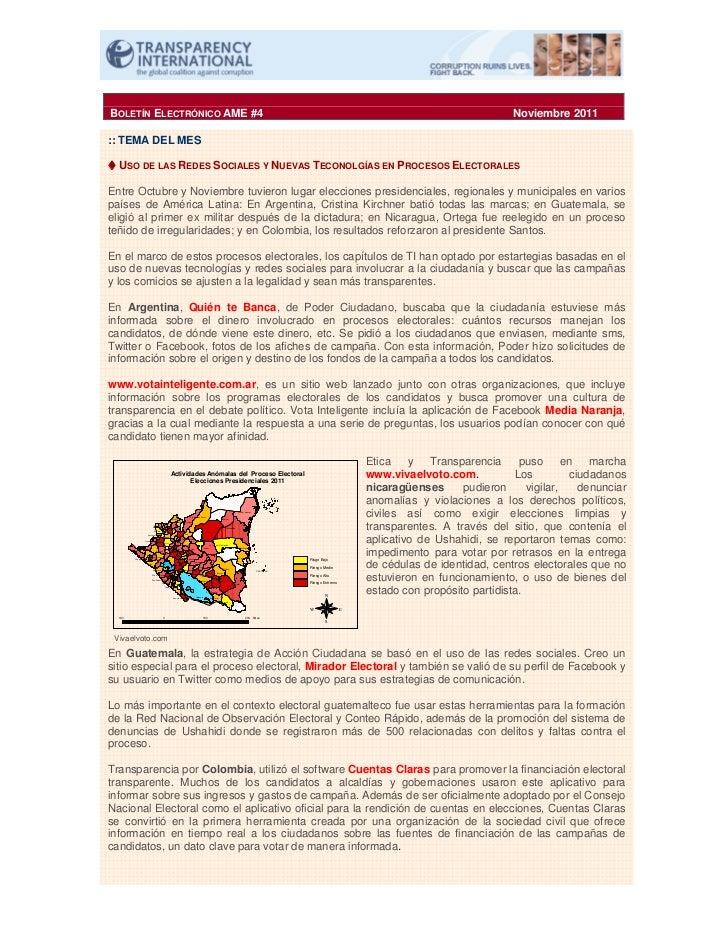 BOLETÍN ELECTRÓNICO AME #4                                                                                                ...