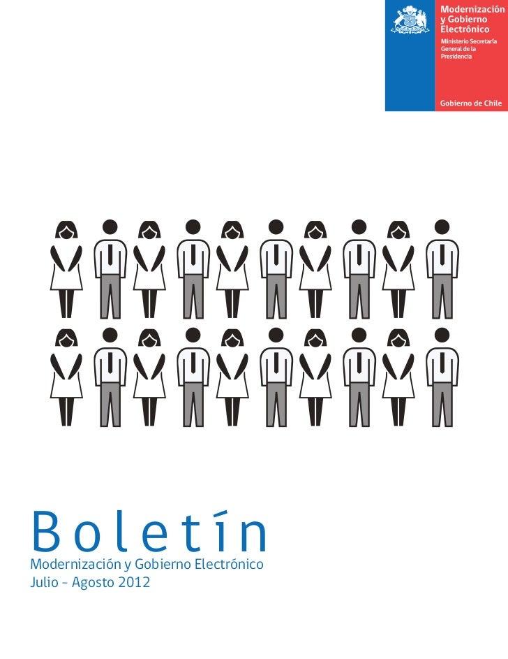 BoletínModernización y Gobierno ElectrónicoJulio - Agosto 2012