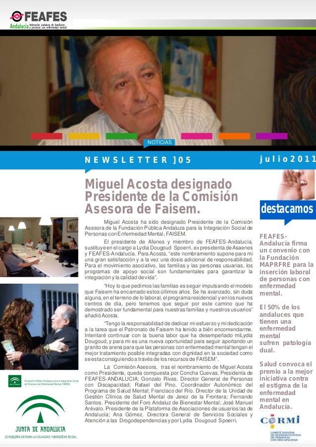 NOTICIASdestacamosCONSEJERÍA DE PARA LA IGUALDAD Y BIENESTAR SOCIALMiguel Acosta ha sido designado Presidente de la Comisi...