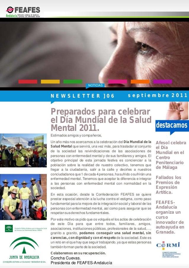 FEAFES-Andalucíaorganiza uncursoinnovador deautoayuda enGranada.Afesol celebrael DíaMundial en elCentroPenitenciariode Mál...