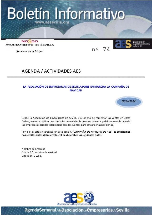 Servicio de la Mujer                                               nº 74         AGENDA/ACTIVIDADESAES           ...