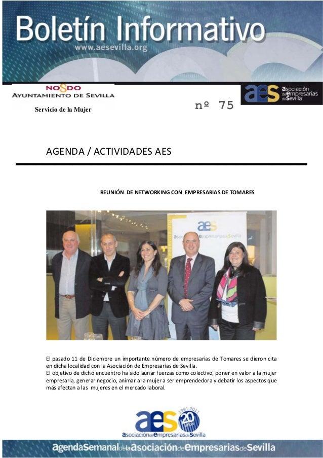 Servicio de la Mujer                                               nº 75         AGENDA/ACTIVIDADESAES             ...