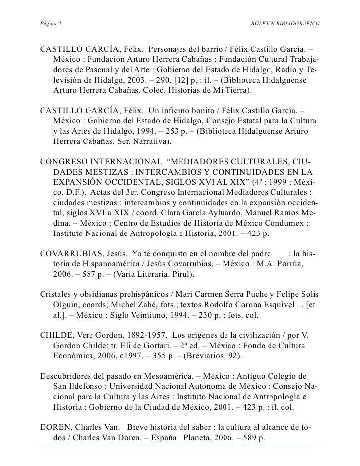 Página 2                                                   BOLETIN BIBLIOGRÁFICO    CASTILLO GARCÍA, Félix. Personajes del...