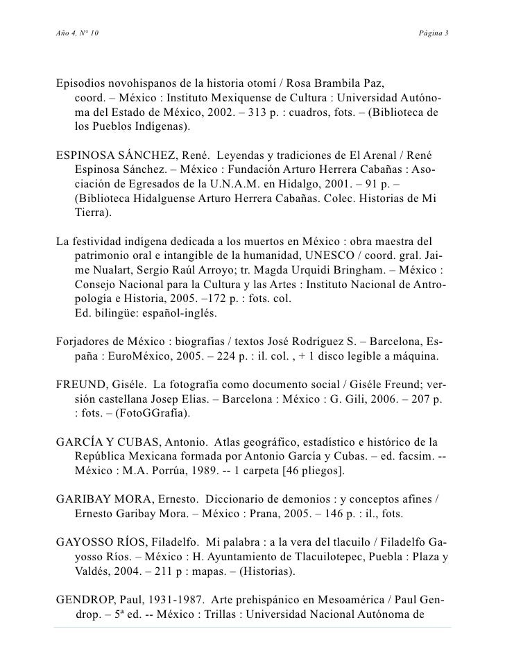 Año 4, N° 10                                                             Página 3     Episodios novohispanos de la histori...